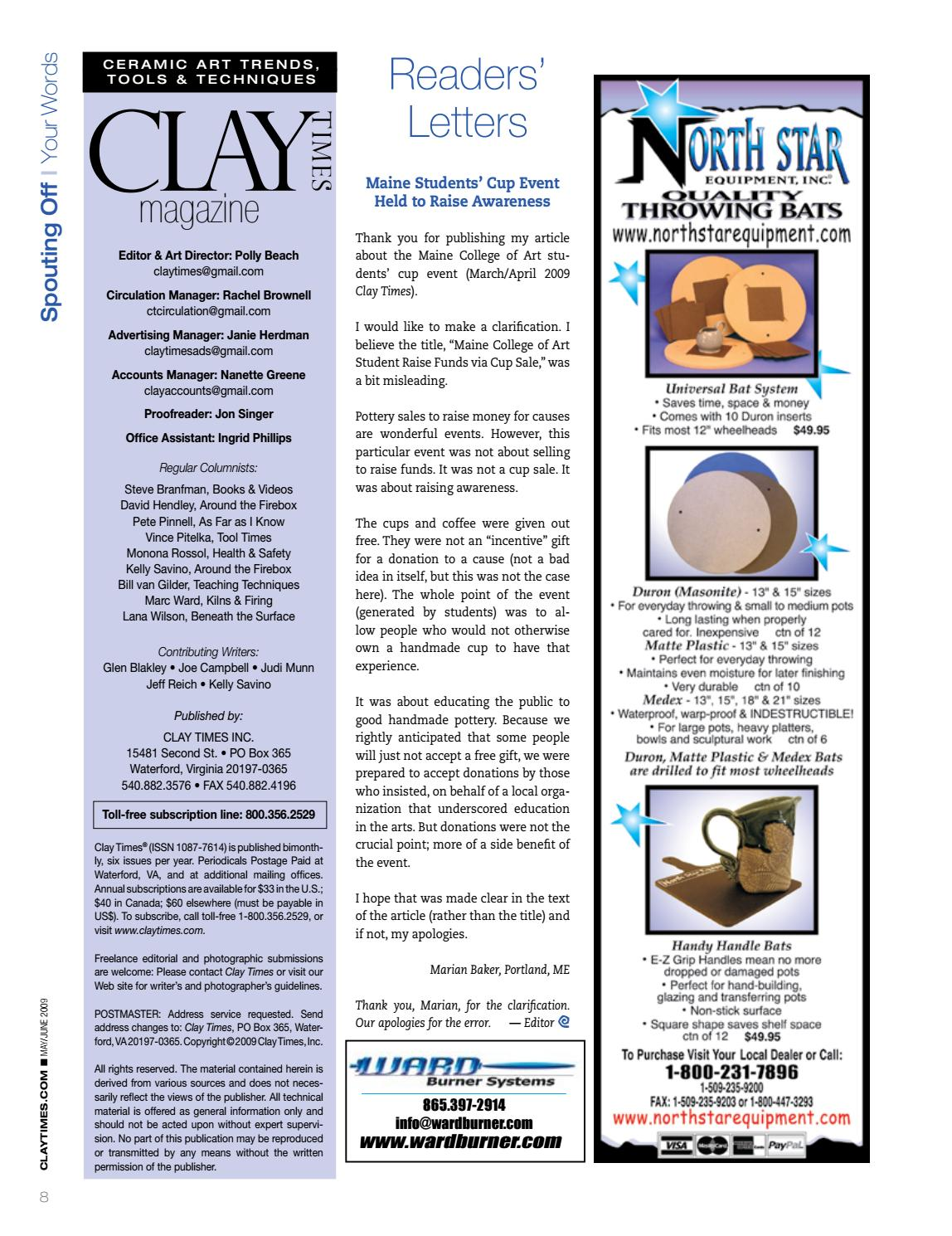 Clay Times Magazine Volume 15 • Issue 81