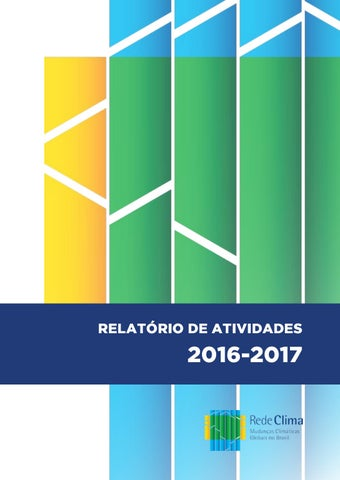Relatrio de atividades rede clima 2016 2017 by rafael felix issuu page 1 fandeluxe Images