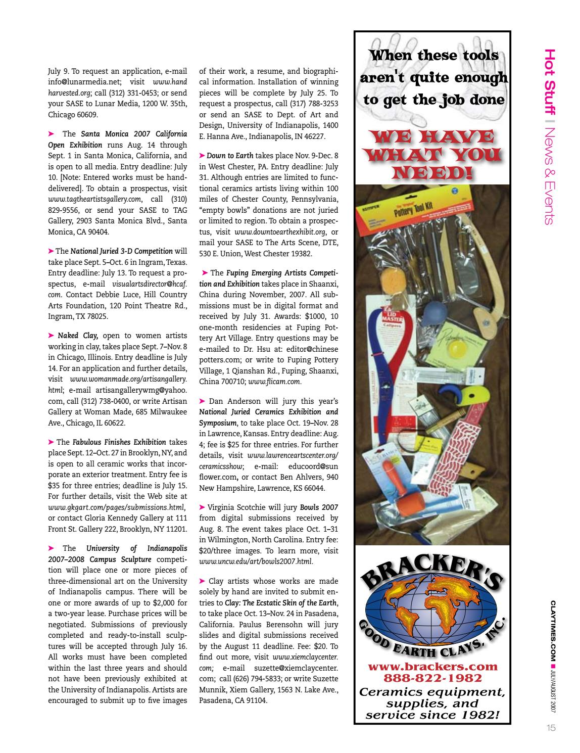 Clay Times Magazine • Volume 13 Issue 71 by claytimes - issuu