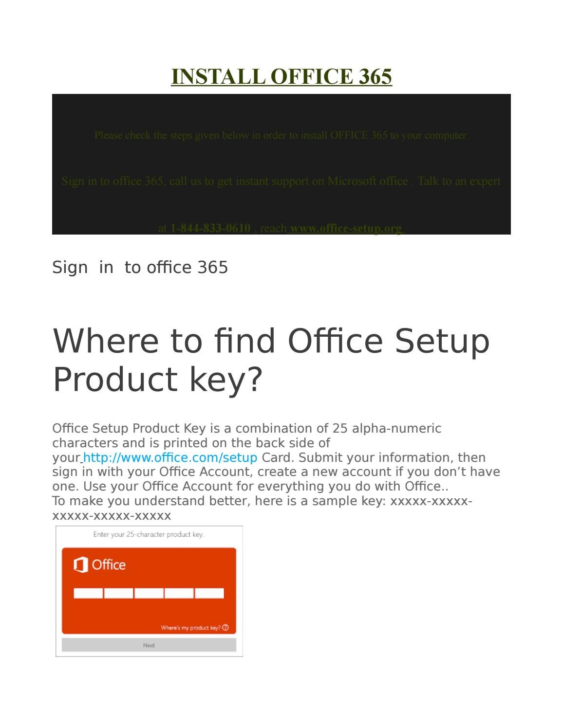 microsoft office 365 25 character product key