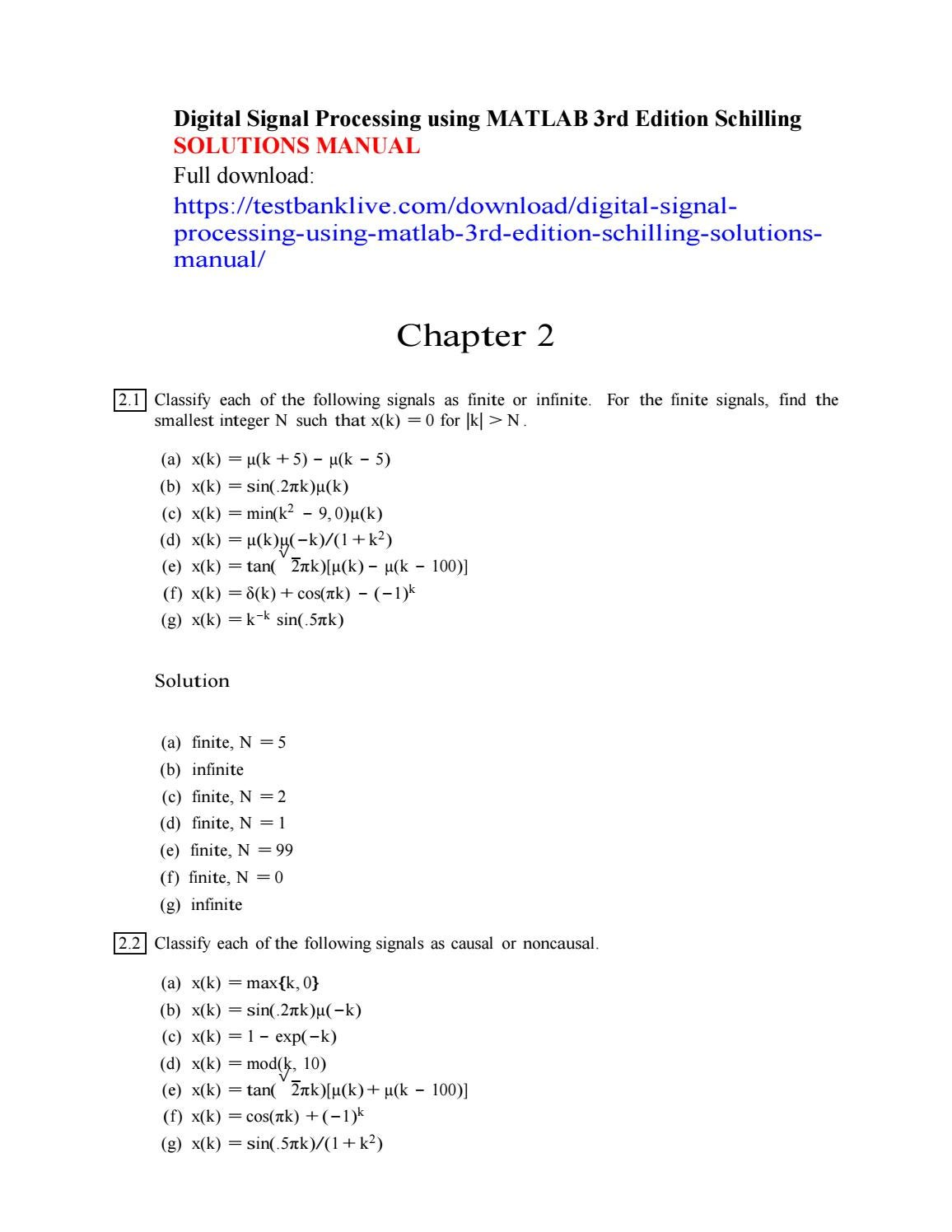 digital signal processing using matlab 3rd edition schilling rh issuu com dsp first second edition solution manual dsp first solution manual pdf