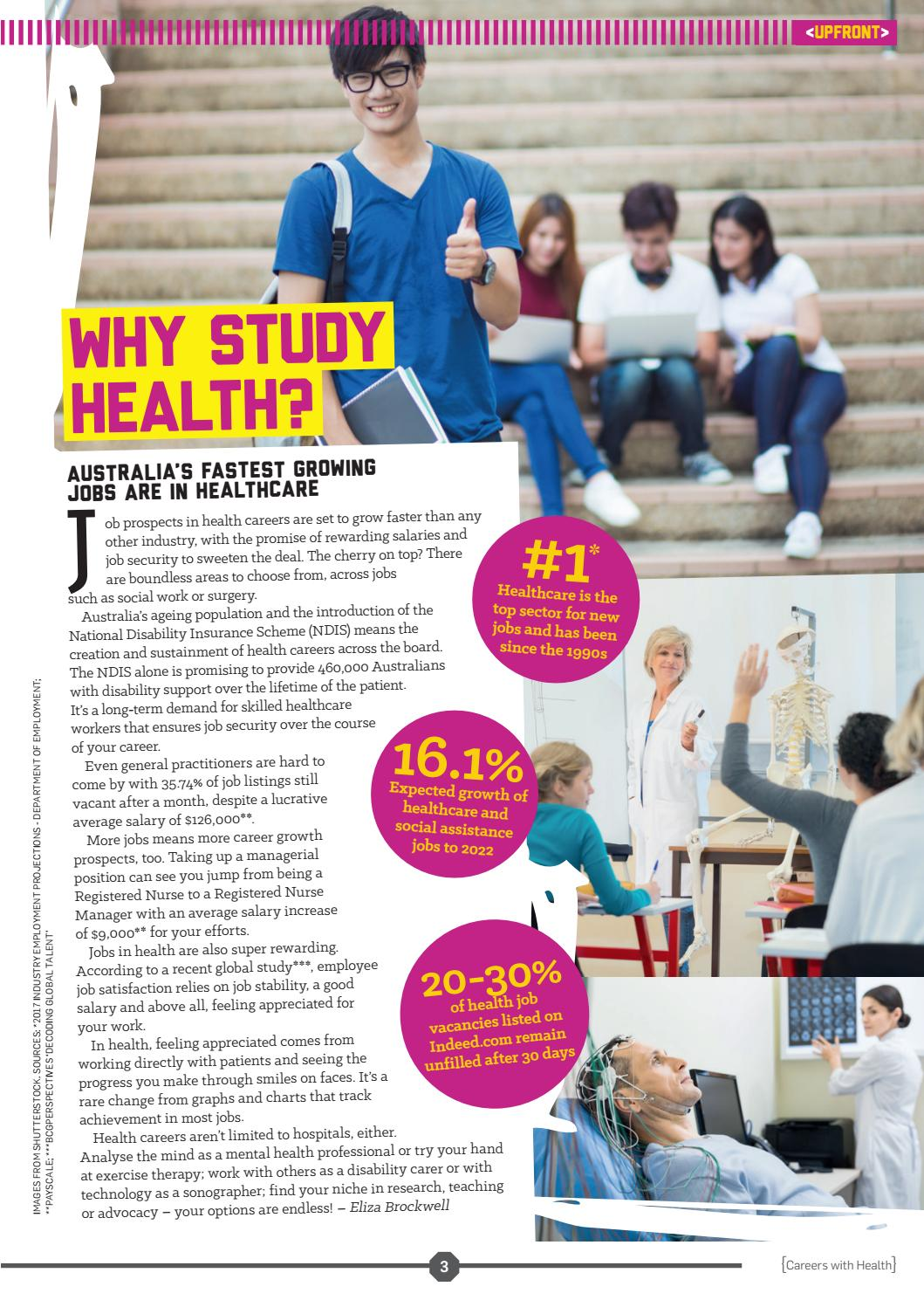 Careers with STEM: Health 2018 by Refraction Media - issuu