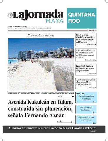 La Jornada Maya Lunes 5 De Febrero De 2018 By La Jornada