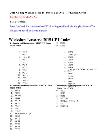 2015 coding workbook for the physicians office 1st edition covell 2015 coding workbook for the physicians office 1st edition covell solutions manual full download publicscrutiny Image collections