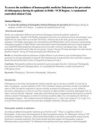 Dr  Naval Kumar - India's Best Homeopathic Treatment of Chikungunya