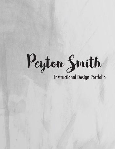 Portfolio Instructional Design 2018 By Peyton Smith Issuu