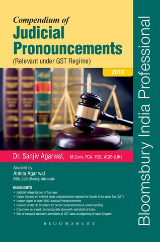 Compendium Of Judicial Pronouncements Relevant Under GST