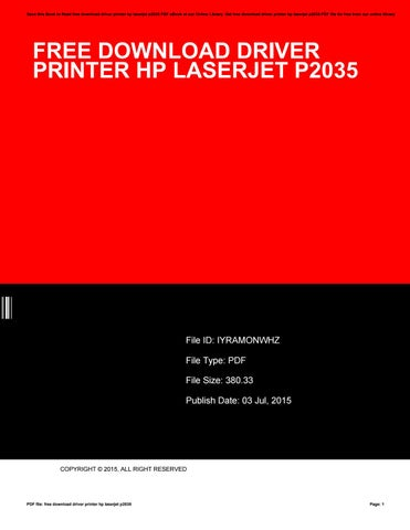 hp p2035 drivers free download