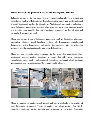 Are You Looking For the Best Laboratory Equipment in Australia by