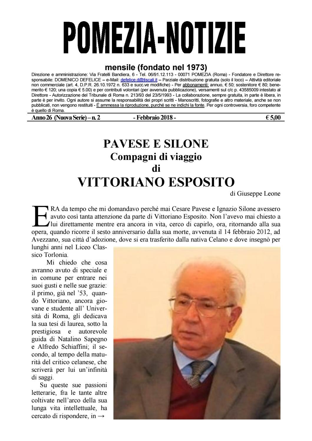 89a54468829 Pomezia Notizie 2018 2 by Domenico - issuu