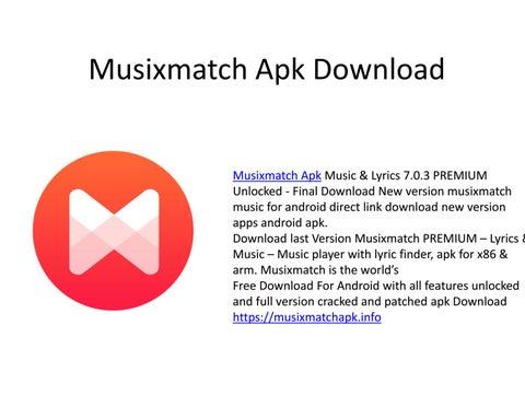 By Photo Congress    Musixmatch Premium Apk 7 0 3