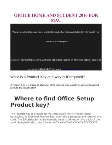 find my office product key mac