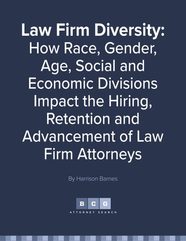 Law firm diversity how race, gender, age, social and economic