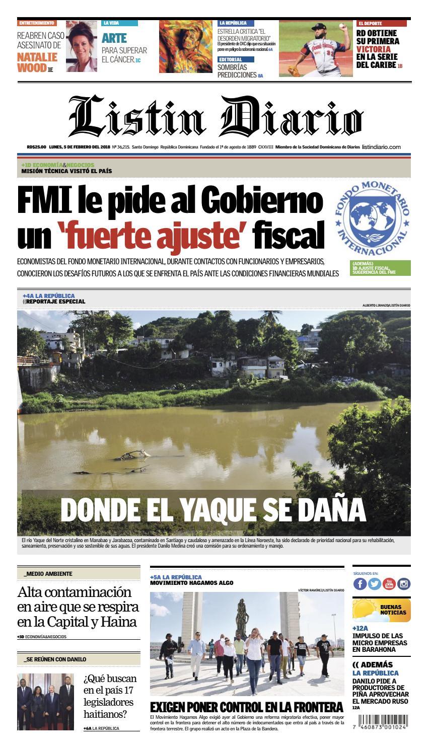 b1f267eb2a42b LD 05-02-2018 by Listín Diario - issuu