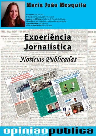 59954dd0aa Experiência jornalística by Maria João Mesquita - issuu
