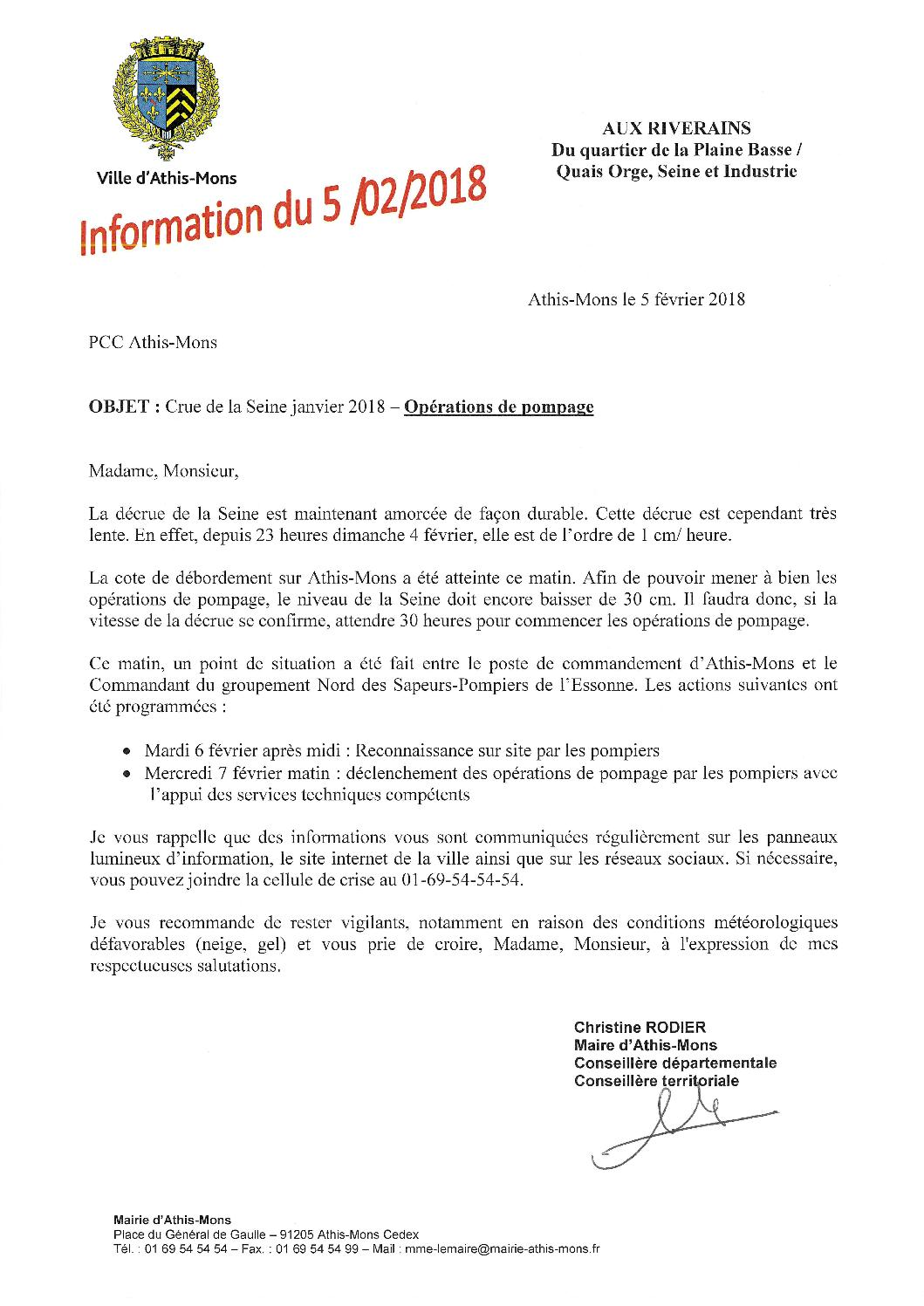 Lettre D Information N 5 05 02 2018 By Mairie D Athis Mons