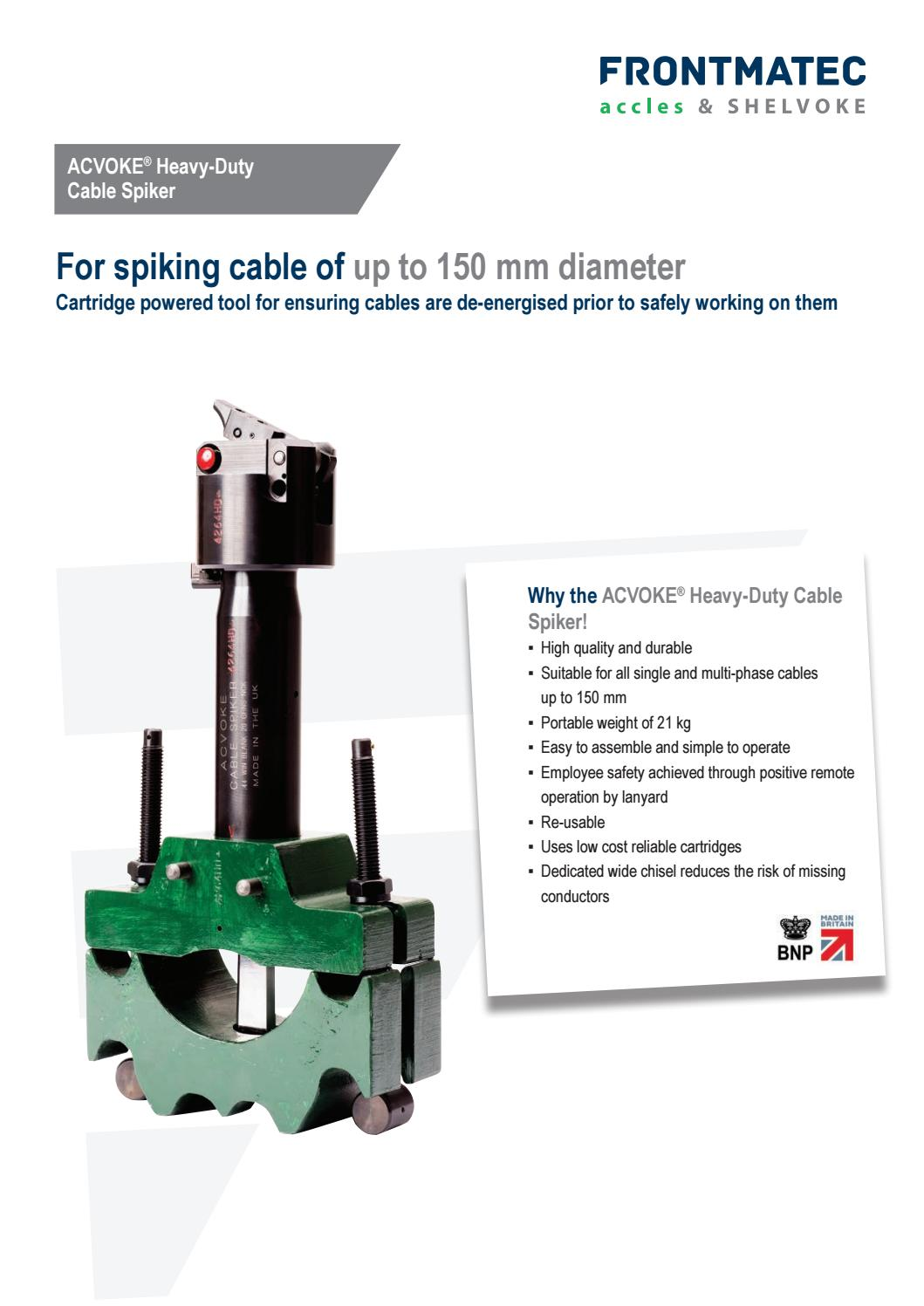 Acvoke 174 Heavy Duty Cable Spiker By Frontmatec Accles