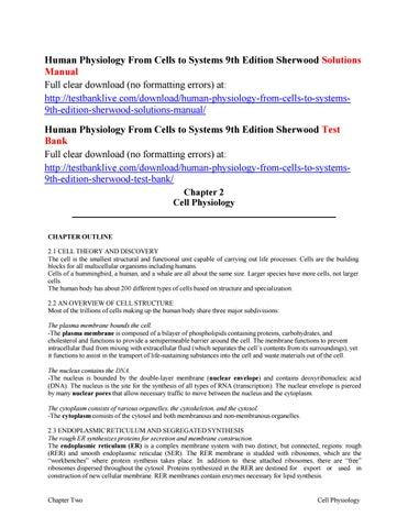 Human Physiology Sherwood Ebook