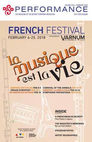 Dso French Festival Performance Magazine By Detroit Symphony