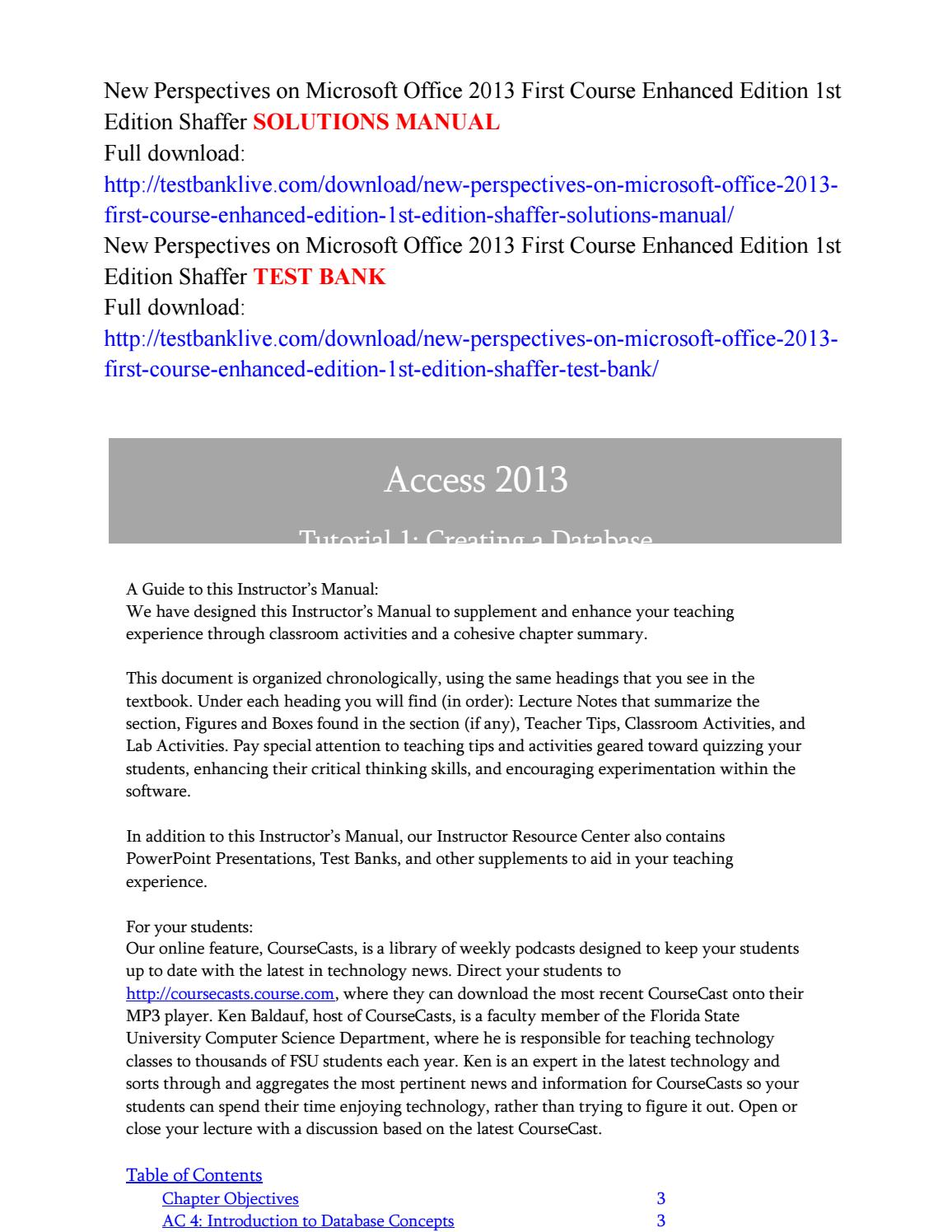new perspectives on microsoft office 2013 first course enhanced rh issuu com