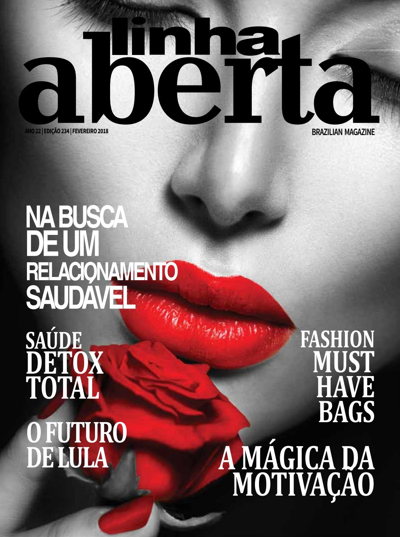 Linha Aberta Brazilian Magazine February 2018 By Linha