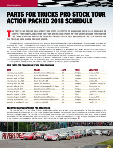 Page 42 of PFT Maritime Pro Stock Tour 2018 Schedule
