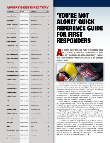 Page 44 of Quick reference guide for first responders