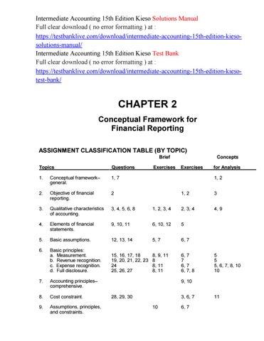 Intermediate Accounting 15th Edition Kieso Solutions Manual
