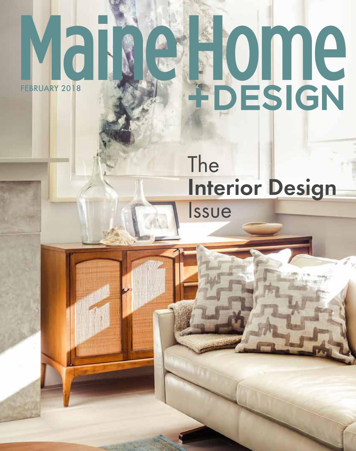 ranch home remodel annie selke ranch house makeover home redesign Maine Home+Design February 2018