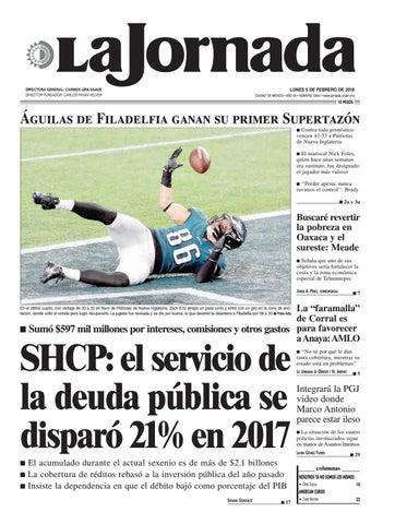 a36fcc65946f6 LUNES 5 DE FEBRERO DE 2018 CIUDAD DE MÉXICO • AÑO 34 • NÚMERO 12041 •  www.jornada.unam.mx