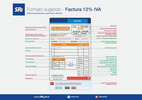 formato factura iva 12 ecuador by trámites básicos blog issuu