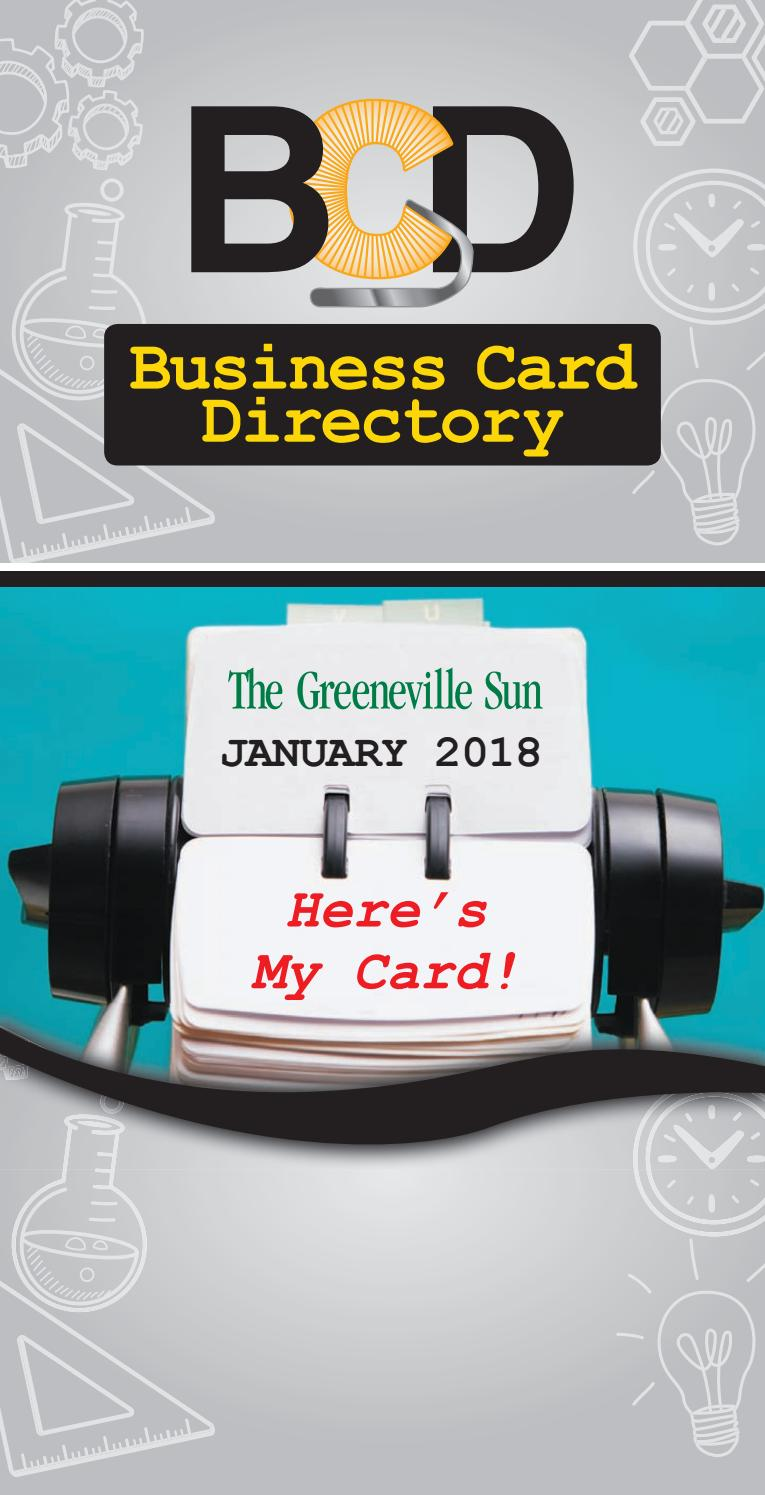 Business Card Directory (Jan. 2018) by The Greeneville Sun - issuu