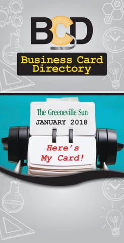 Business card directory jan 2018 by the greeneville sun issuu page 1 business card directory reheart Image collections