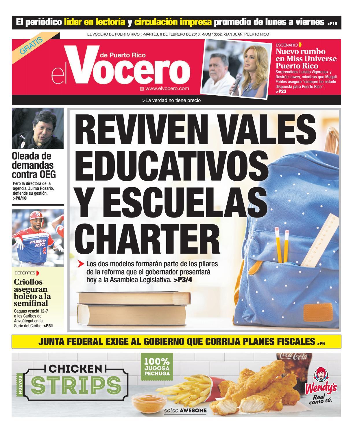 Edición del 6 de febrero de 2018 by El Vocero de Puerto Rico - issuu fbea8bb1f4e7d