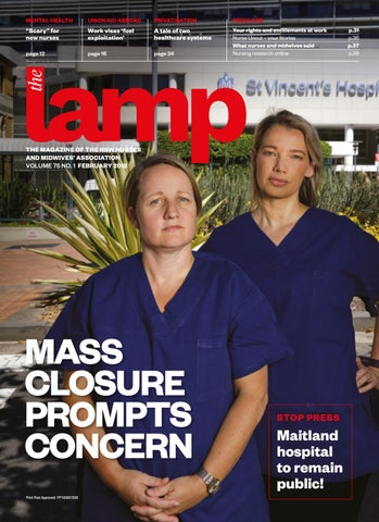 Lamp february 2018 by nsw nurses and midwives association issuu page 1 fandeluxe Gallery
