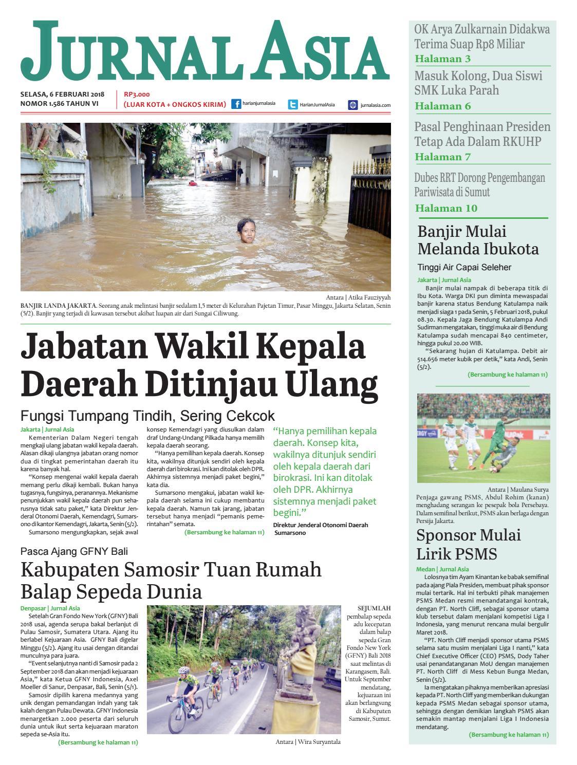 Harian Jurnal Asia Edisi Selasa 06 Februari 2018 By Harian Jurnal