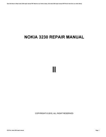 nokia 3230 repair manual by lpo27 issuu rh issuu com Nokia 3220 Nokia 3300