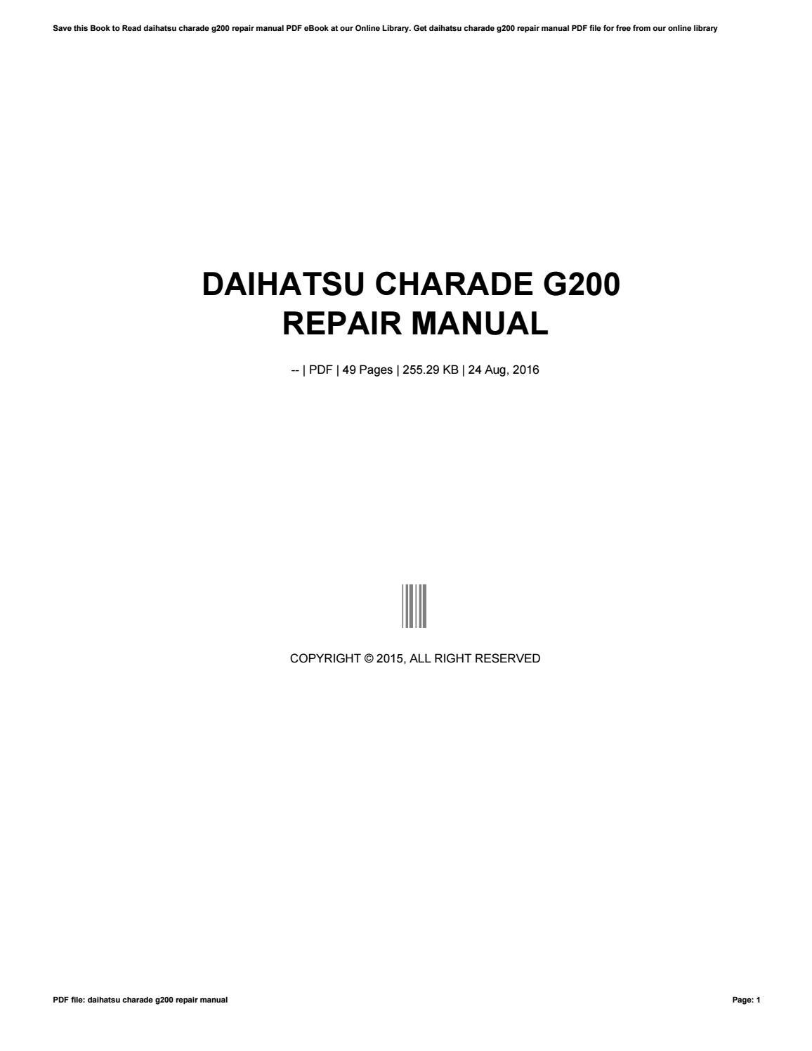 daihatsu charade g200 repair manual by rkomo14 issuu
