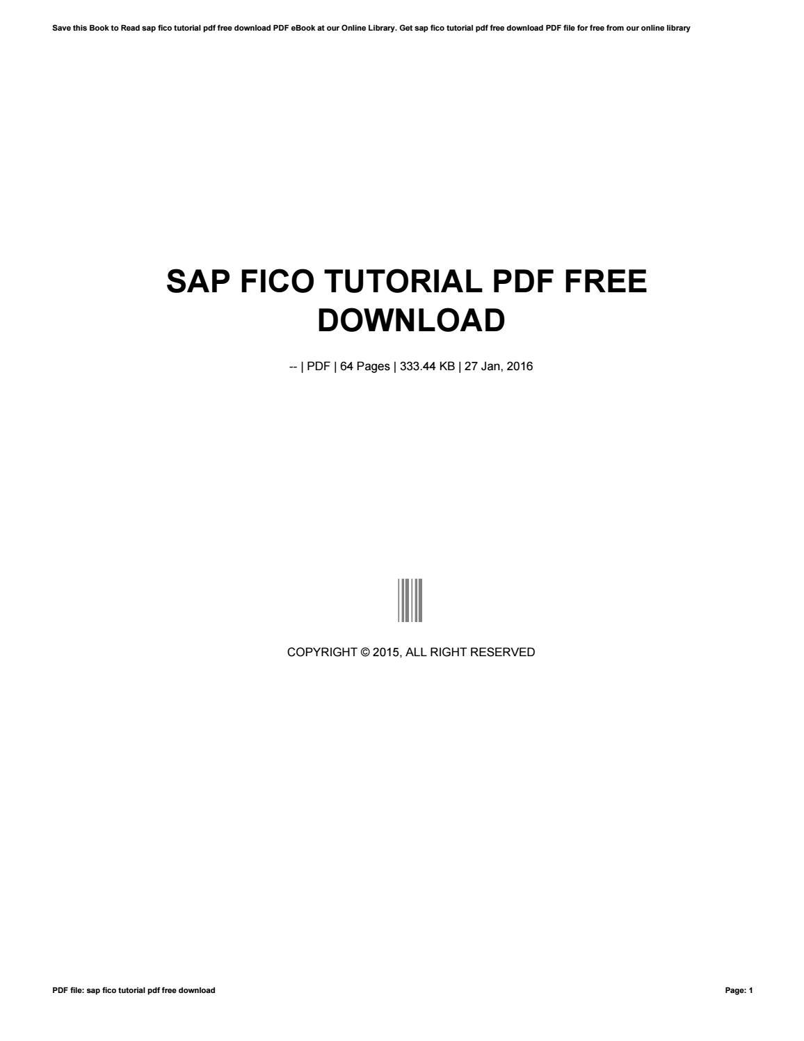 Sap fico tutorial pdf free download by sroff957 - issuu