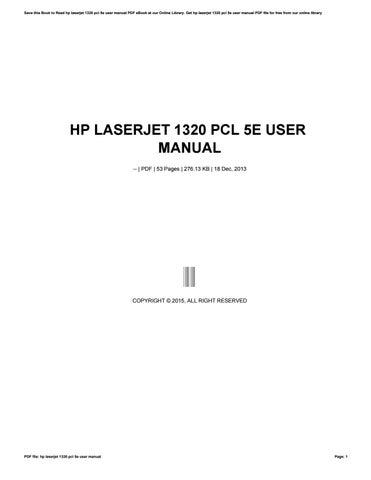 Hp laserjet 1320 nw manual.