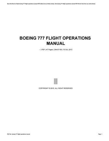 Ebook operations manual today manual guide trends sample boeing 777 flight operations manual by ty668 issuu rh issuu com operation manual clip art cd fandeluxe Image collections