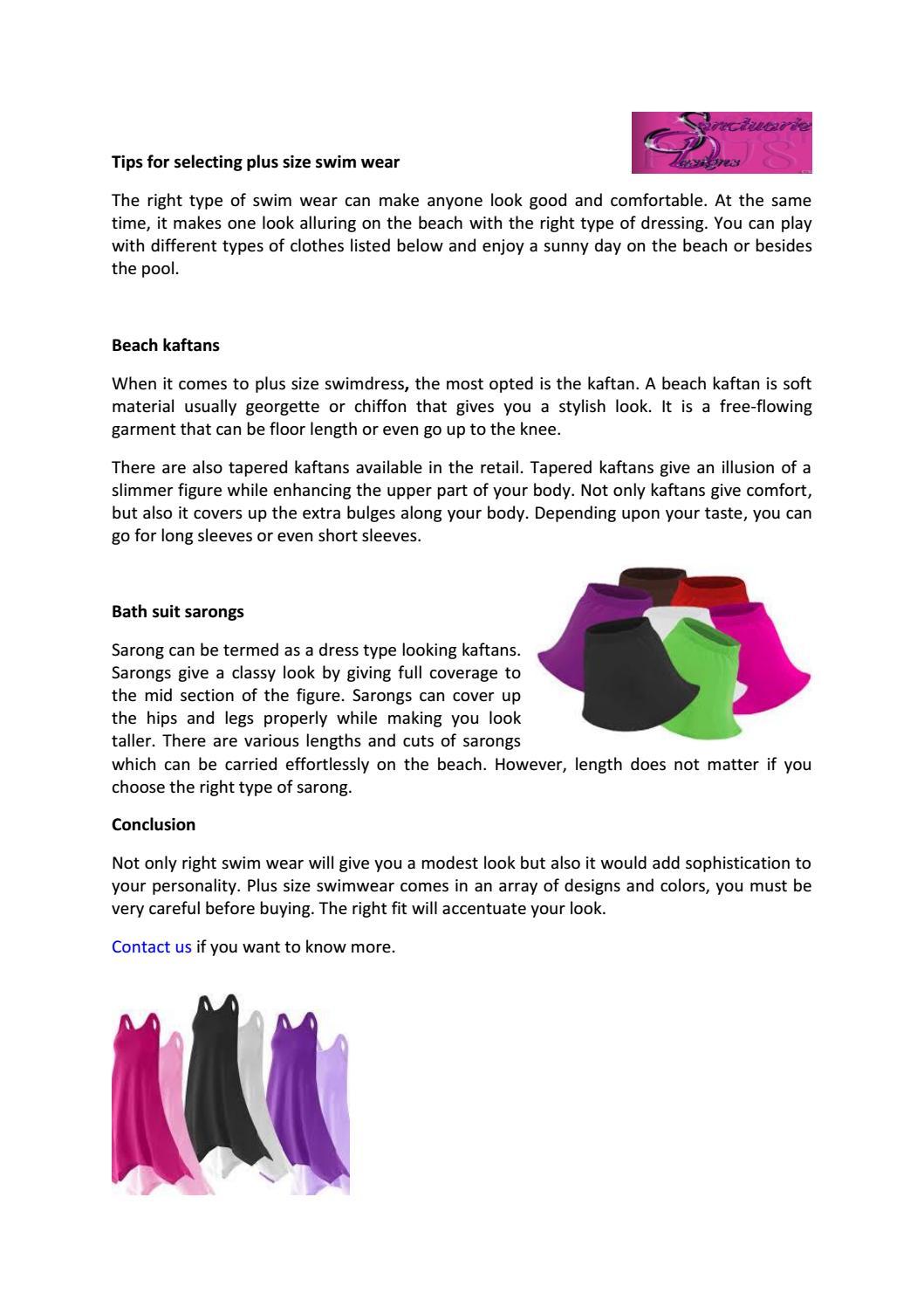 05d8c6e838 Tips for selecting plus size swim wear by Sanctuarie Designs - issuu