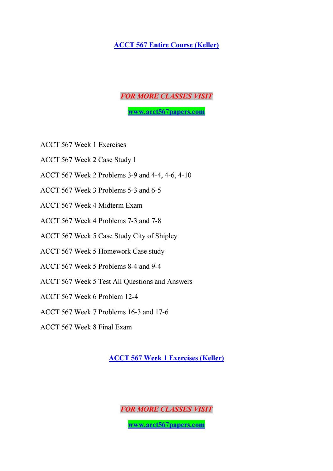 acct 567 week 7 homework