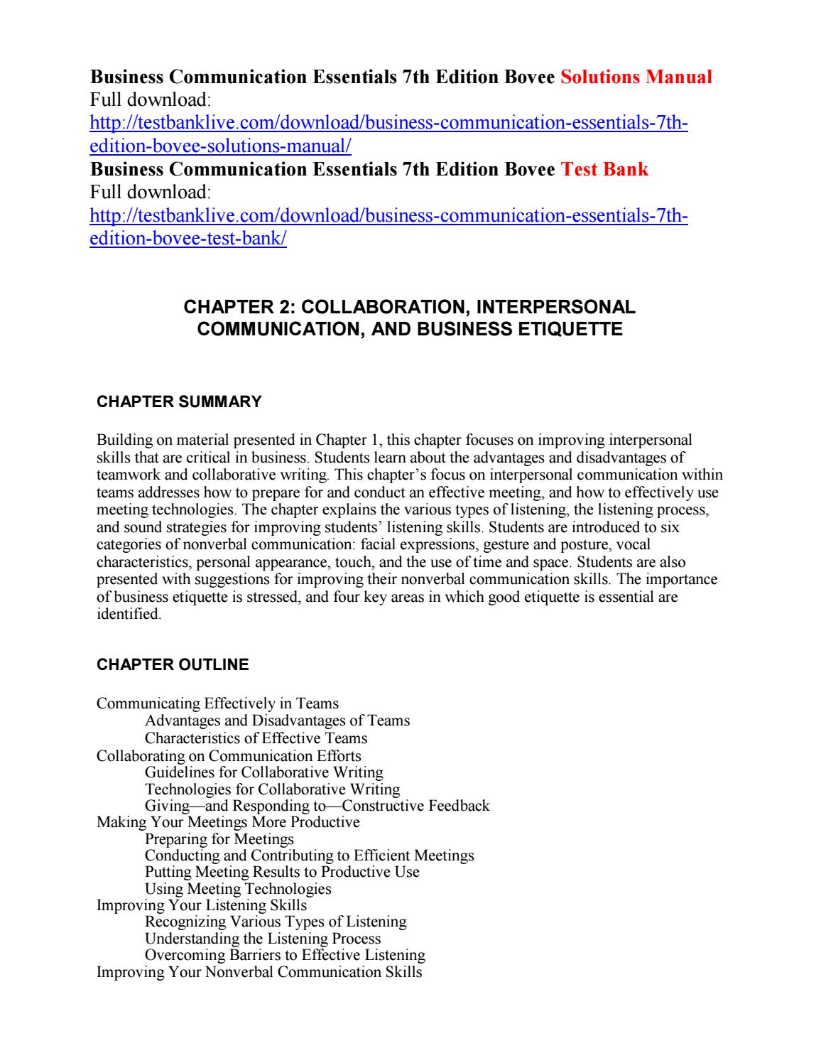 Business communication essentials 7th edition bovee solutions manual business communication essentials 7th edition bovee solutions manual by alladin111 issuu fandeluxe Images