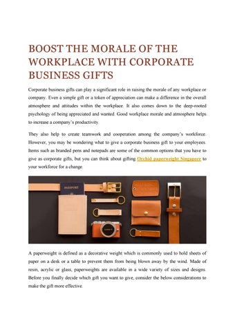 Unique Corporate Business Gifts of Singapore by Labelle - issuu