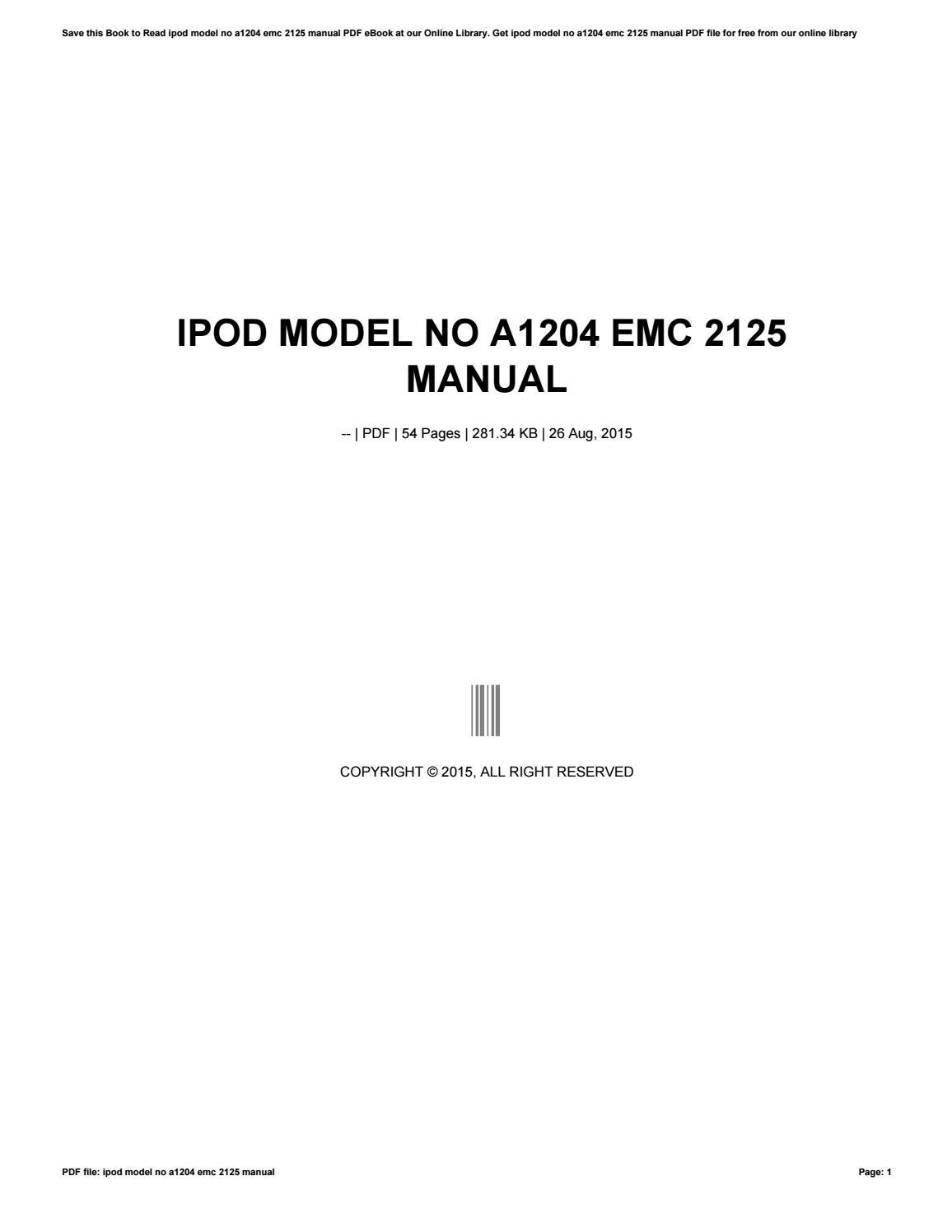 A1204 EMC 2125 DESCARGAR CONTROLADOR