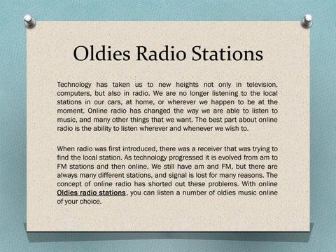 Oldies radio stations by Emilkovach - issuu