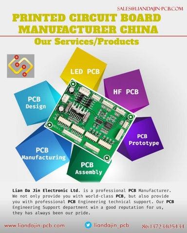 Printed Circuit Board Manufacturer China by Lian Da Jin