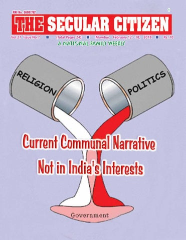 Olisabang Province India Map.Secular Citizen Vol 27 No 7 Dated 12th February 2018 By Lawrence