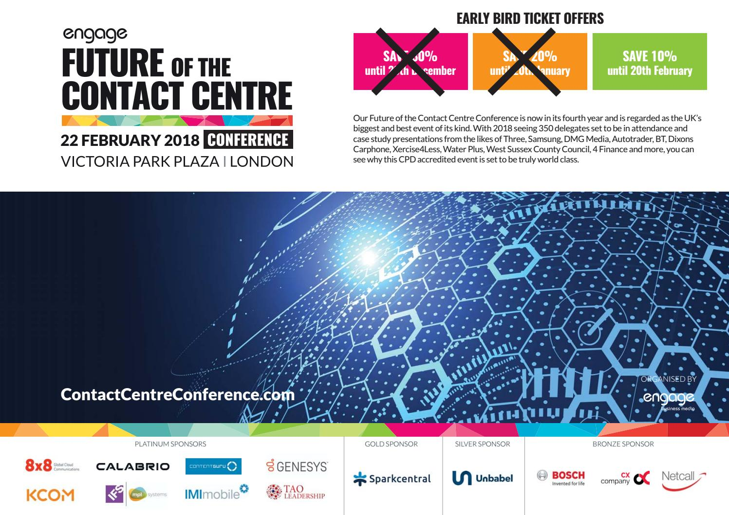 Future of the Contact Centre Conference Preview Guide 2018